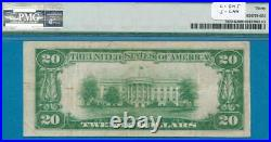 $20. 1929 Dallas Scarce Brown Seal Federal Reserve Bank Note Pmg Vf30