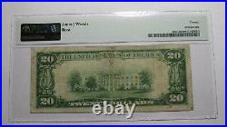 $20 1929 El Paso Texas TX National Currency Bank Note Bill Ch. #2532 VF20 PMG