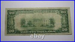 $20 1929 Saratoga Springs New York NY National Currency Bank Note Bill #893 VF+