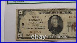 $20 1929 Waterloo New York NY National Currency Bank Note Bill Ch #368 F15 PCGS