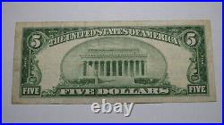 $5 1929 Durant Oklahoma OK National Currency Bank Note Bill Ch. #13018 RARE