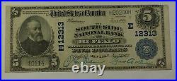 $5 National Banknote South Side National Bank of Buffalo NY Very Fine Ch. #12313