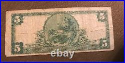 Des moines Iowa, Valley National bank, 1902 PB, $5