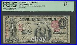 Fr384 Ch #907 Tiffin, Oh $1 1875 National Note Pcgs Fine 15 Wl9381