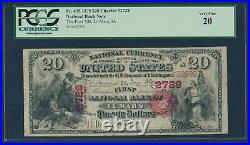 Fr435 #2728 $20 1875 Nat'l Le Mars, Ia Pcgs 20 Vf (only 3 Recorded) Wlm7071