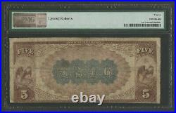 Fr477 #5246 $5 1882 Brown Back Choctaw Bank Of Caddo Indian Territory Wlm8967
