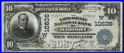Fr623 $10 1902 Lake County Nb Of Madison, Sd #w10636 Date Back Unique Wlm4346