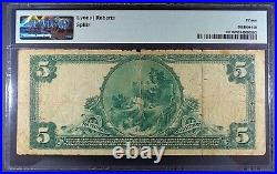 Fr. 587 1902 Red Seal $5 National Bank Note, PMG ChF-15