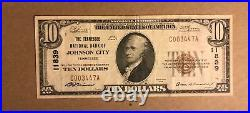 Johnson city, Tennessee National bank, 1929, type one, VF