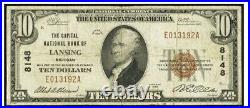 Lansing MI Capital National Bank $10 Currency signed by RE Olds & AA Elsesser