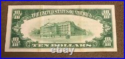 Manchester New Hampshire, Amoskeag National Bank 1929 T-2. $10, XF