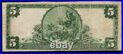 Marion IN $5 1902 PB National Bank Note Ch #7758 Marion NB Fine