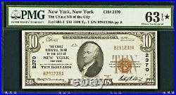 New York, NY $10 1929 Ty. 1 The Chase National Bank Ch. # 2370 PMG Choice Unci