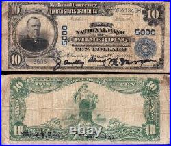 Nice SCARCE 1902 $10 WILMERDING, PA National Banknote! FREE SHIPPING! X641845H