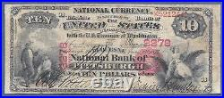 Pa 1875 $10 Pittsburgh, Pennsylvania Only Known! The Duquesne Nb