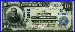 Painesville OH-Ohio $10 1902 PB National Bank Note Ch #2842 Painesville NB VF+