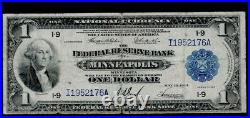 SC 1918 Green Eagle $1 Large Federal Reserve Bank Note Minneapolis MN BETTER FR