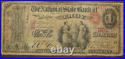 Series 1865 Original $1 National Currency Note, Troy NY