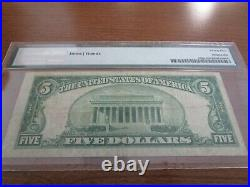 Small Size Wisconsin National Currency $5 Note American NB Wausau PMG 25