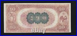 US 1882 $10 Brown Back National Currency Chtr 290 4th NB City of NY FR 479 (287)