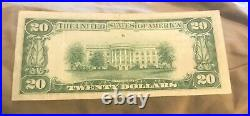 Vicksburg Mississippi, $20, 1929 type one, First National bank VF / XF