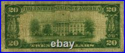 Wilkes-Barre PA-Pennsylvania $20 1929 T-2 National Bank Note Ch #104 2nd NB VG