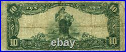 Youngstown OH $10 1902 PB National Bank Note Ch #2482 Commercial NB Fine